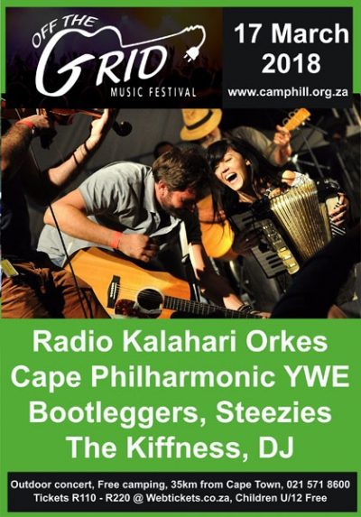 Off the Grid Music Festival at Camphill Village Westcoast 17 March 2018