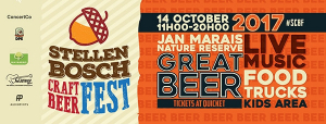 This Saturday: Stellenbosch Craft Beer Festival - 14 October