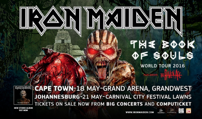 IRON MAIDEN AND THE BOOK OF SOULS GO JUMBO ON SOUTH AFRICA NEXT WEEK