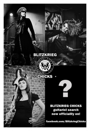 BLITZKRIEG CHICKS Seeks Guitarist