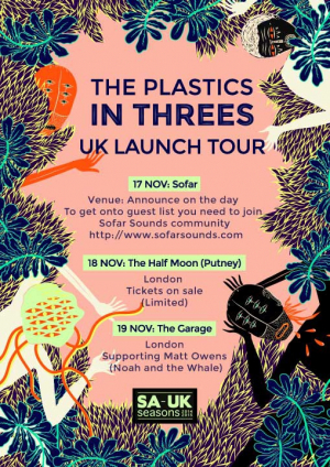 The Plastics - 'In Threes' UK Launch Tour - November 2015