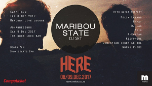 Maribou State Live in South Africa This December!