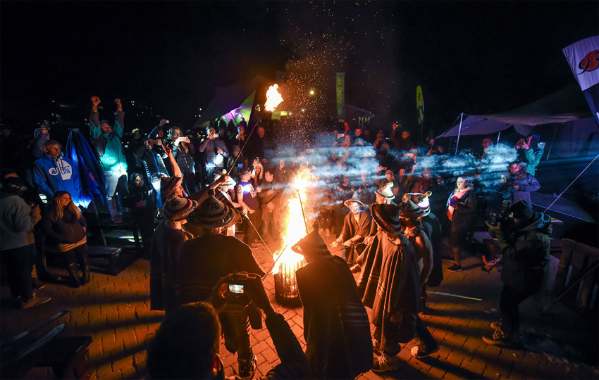 The traditional ski burning is the perfect Afriski Winterfest finale Photo Cred Alexander Wolf