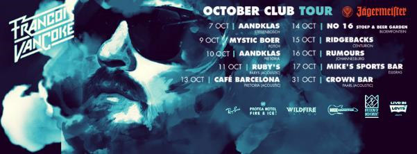 francoisvancoke october dates