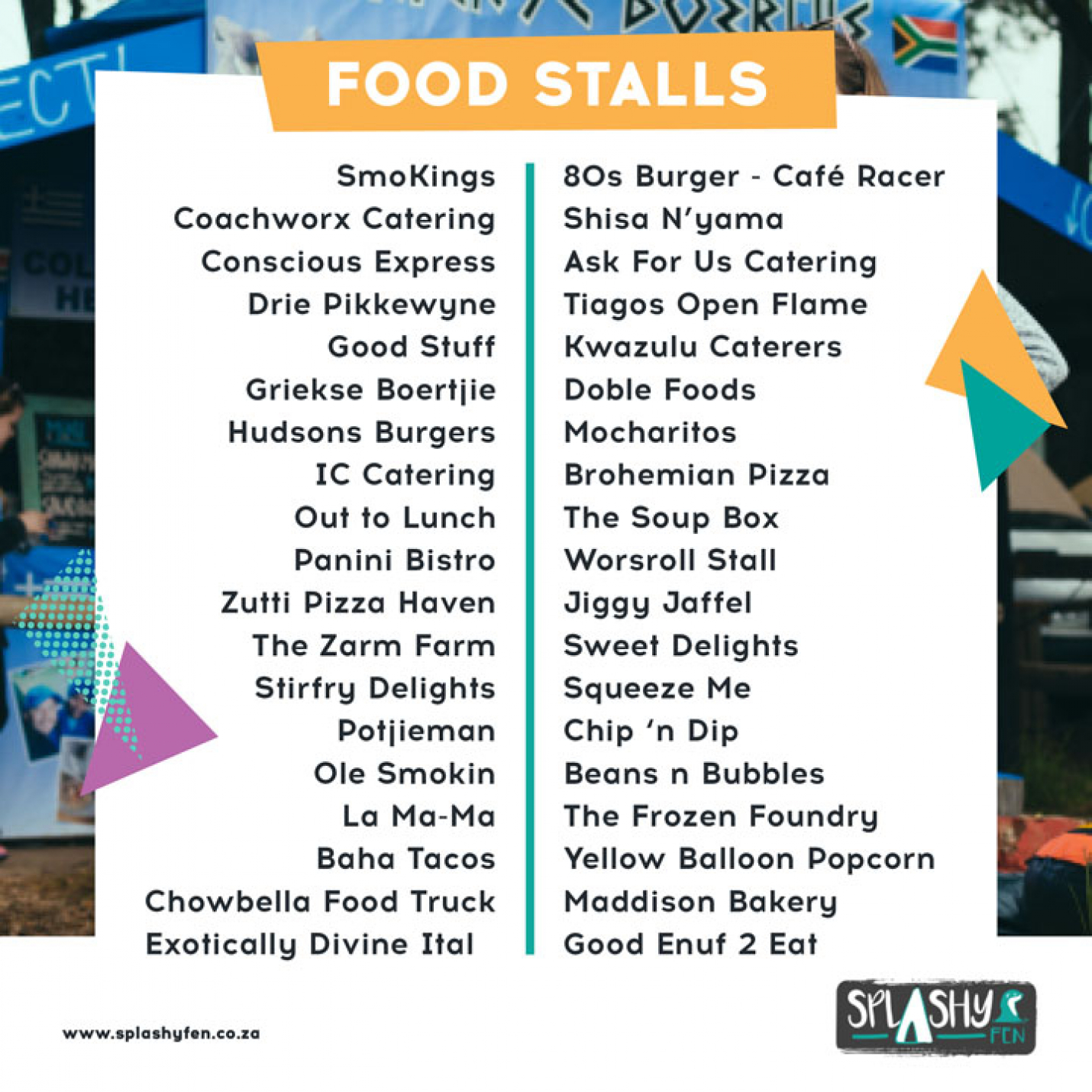 Food and Craft Galore at SPLASHY FEN