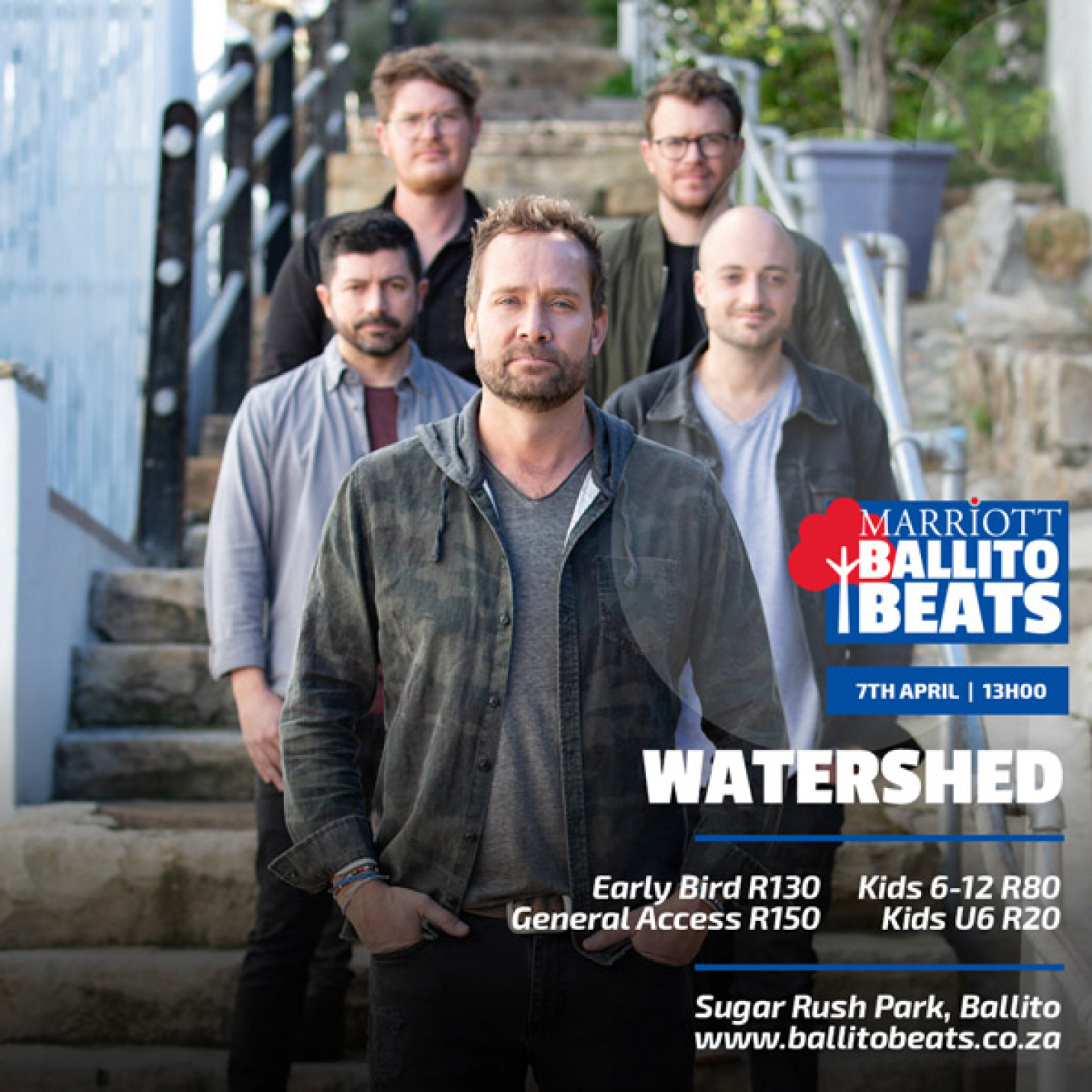 Watershed and Friends... at Marriott Ballito Beats this Sunday