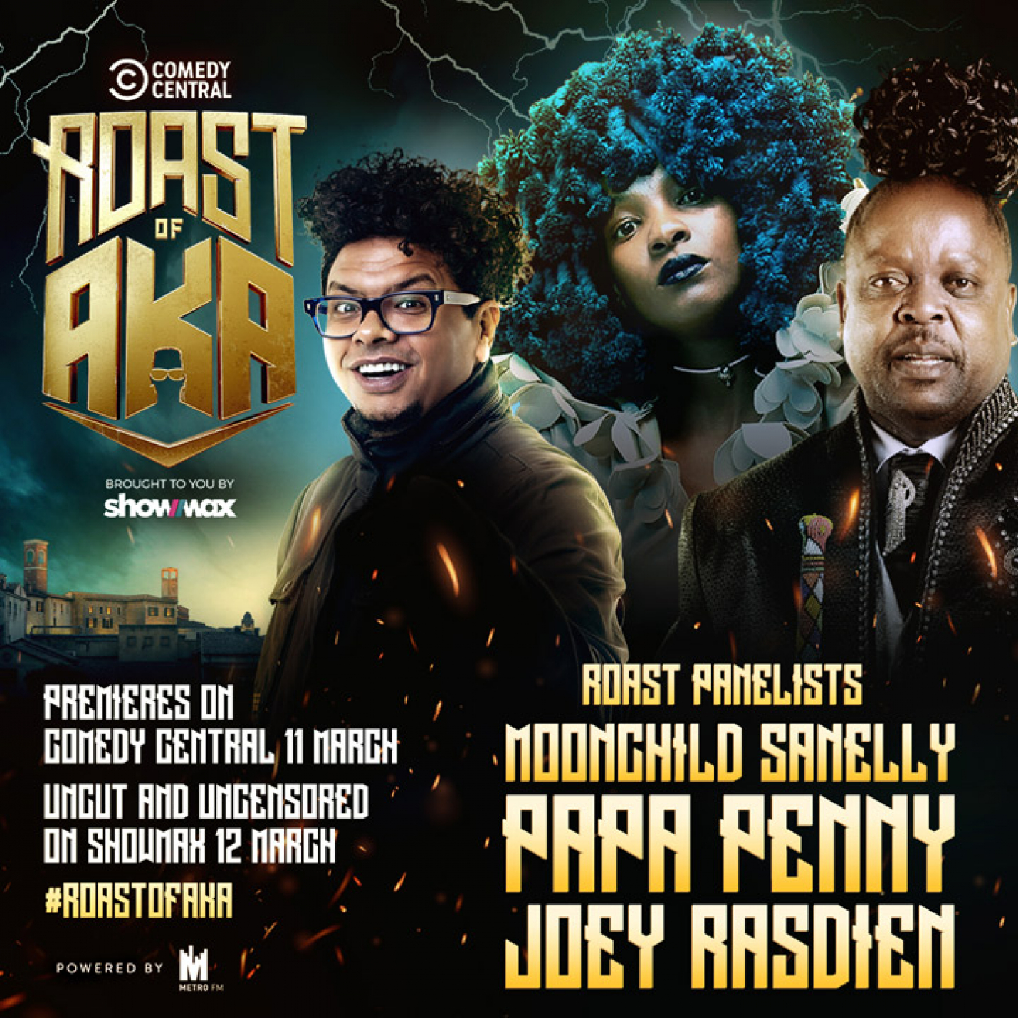Moonchild Sanelly, Papa Penny and Joey Rasdien join the Roast Of AKA