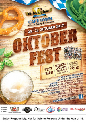 Windhoek Oktoberfest 20 to 22 October 2017 at Hillcrest Quarry