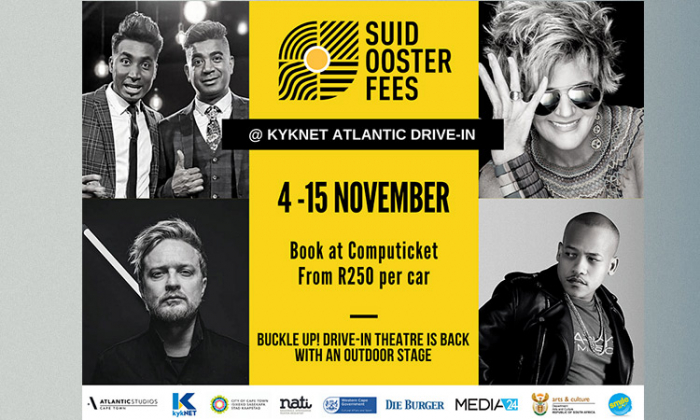 Suidoosterfees kykNet Atlantic Drive in Concerts This November