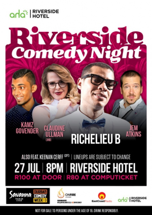 Savanna Cider Presents: Riverside Comedy Night!!!!