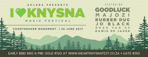 #IHeartKnysna Music Festival | 25 June 2017