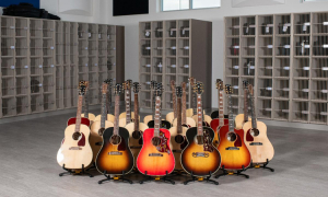Above: Gibson Gives donates a diverse array of hand-crafted Gibson acoustic guitars to the Gallatin High School music department in Bozeman, MT.